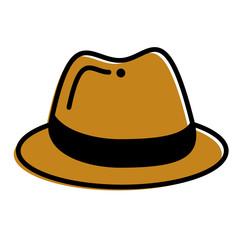 hat fashion accessory elegant icon vector illustration
