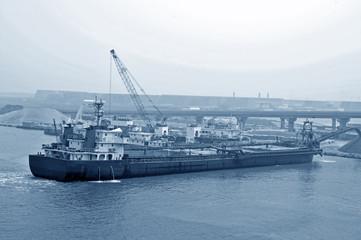 The port cargo ship