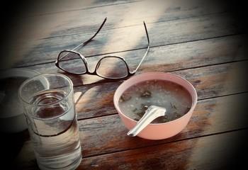 Porridge for breakfast before work.