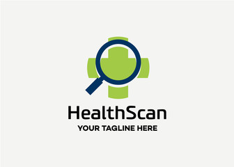 Health Scan Logo Template Design Vector, Emblem, Design Concept, Creative Symbol, Icon