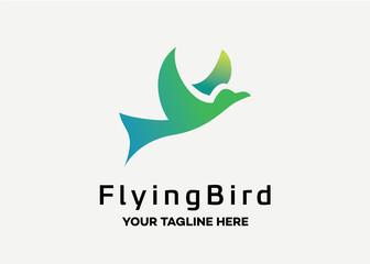 Flying Bird Logo Template Design Vector, Emblem, Design Concept, Creative Symbol, Icon