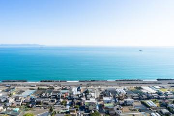 久能山東照宮参道から見た駿河湾の眺め