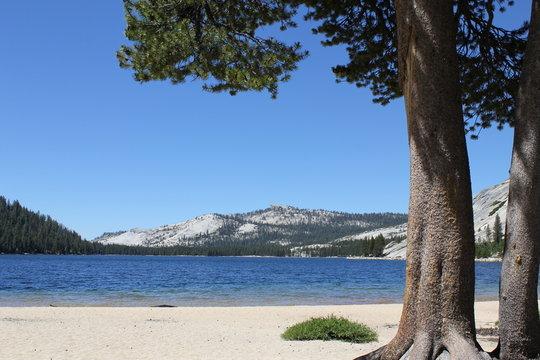 Lake in Yosemite mountains