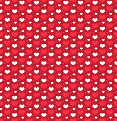 Heart seamless pattern. Love repeating texture. Endless background, wallpaper, backdrop. Vector illustration