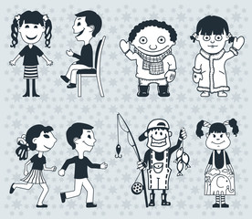 Icons children. Boys and girlsVector. illustration