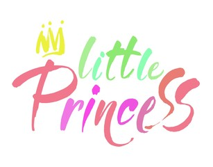 Little princess modern hand lettering. Vector brush calligraphy quote. Modern calligraphy.
