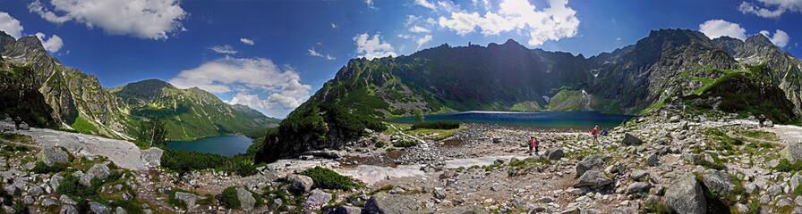 Fototapeta Czarny Staw i Morskie Oko Panorama obraz