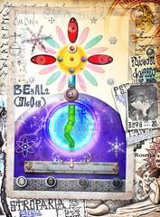 Deurstickers Imagination Graffiti,manoscritti e disegni,alchemici,esoterici e astrologici