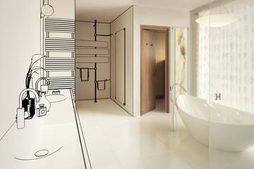Elegantes Badezimmer (Teilkonzept)