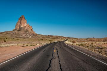 Empty scenic highway in Arizona