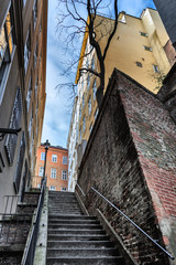 Stiege auf die Mölkerbastei - letzter Erhaltener Verteidigungswall von Wien