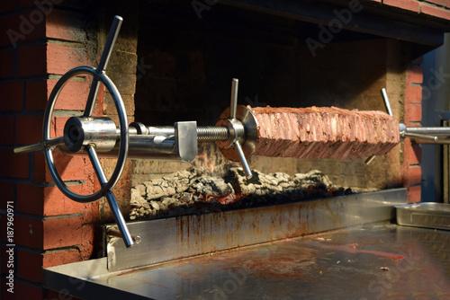 Shawarma on charcoal Doner kebab  Iзмир Turkey
