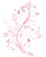 Wall Mural - romantic floral ornament for your design