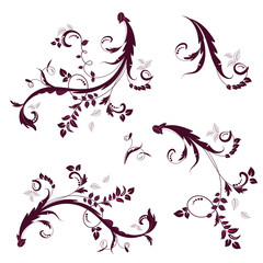 decorative floral twigs with leaves