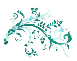 Wall Mural - elegant floral ornament for your design