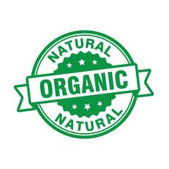 organic natural badge stamp
