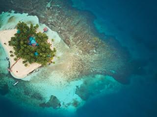 Coral island in Nicaragua