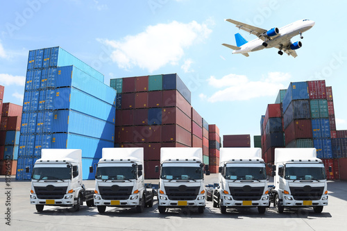 Business concept in logistics, shipping, transportation, and Air