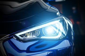 Modern car xenon lamp headlight Wall mural