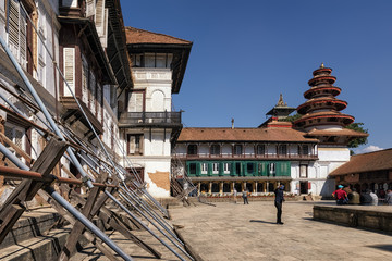 Inside the Royal Palace, Durbar Square, Kathmandu, Nepal
