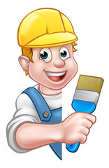 Painter and Decorator Cartoon Handyman