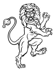 Lion Heraldic Crest Coat of Arms