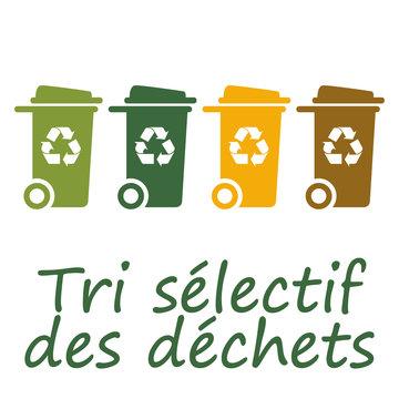 Logo tri sélectif des déchets.