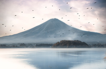 Fuji mountain view. The most famous mount in japan