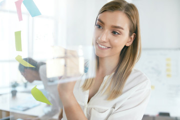 Business Person Working On Project In Office
