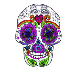 Mexican Sugar Skull front