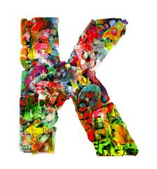 wooden letters K