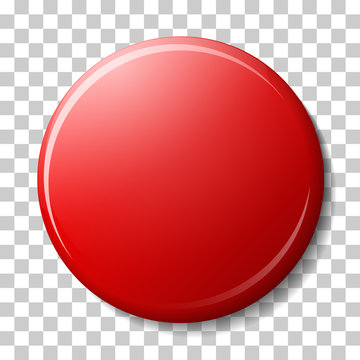 Red magnet with shadow and color reflex, highlights isolated on transparancy background.