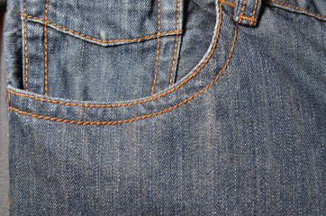 Denim jeans with fashion design.