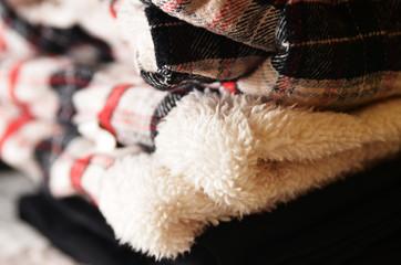 Warm winter woolen clothes
