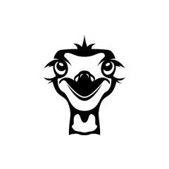 ostrich head vector