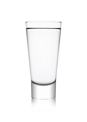 Elegant glass with healthy still clear water