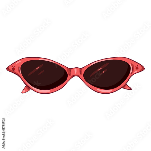 98f99fb60b2bc Vector Cartoon Women Sunglasses in Pink Plastic Rim