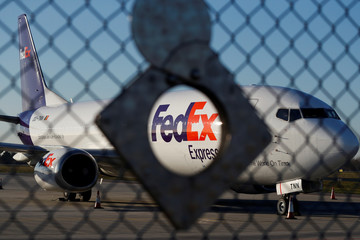 FedEx Express Boeing 737-45D (BDSF) OO-TNN aircraft is seen at the Chopin International Airport in Warsaw
