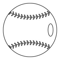 Baseball icon, outline style