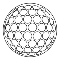 Golf ball icon, outline style