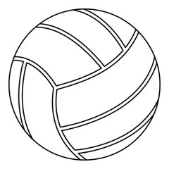 Volleyball ball icon, outline style