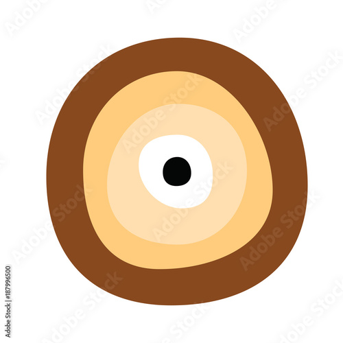 Greek Evil Eye Vector In Brown Colors Symbol Of Protection Stock