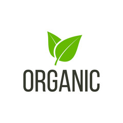 Organic logo isolated on white background. Bio logo. Vector stock.