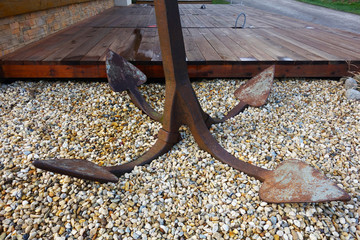Boat anchor as decoration