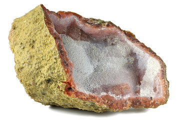 chalcedony from Sidi Rahal/ Morocco isolated on white background