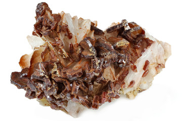 vanadinite from Mibladen/ Morocco isolated on white background