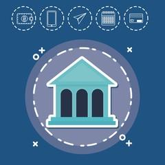 bank Fintech Investment Financial Internet Technology Concept