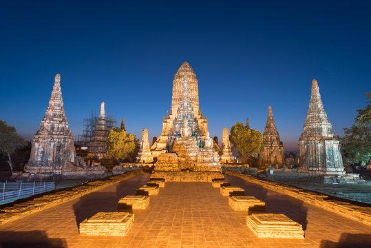 Wat Chaiwatthanaram is ancient Buddhist temple in the Ayutthaya Historical Park, Thailand