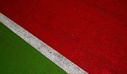 White stripe and two red and green background.