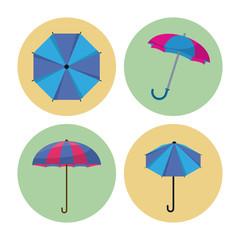 Umbrella icons set